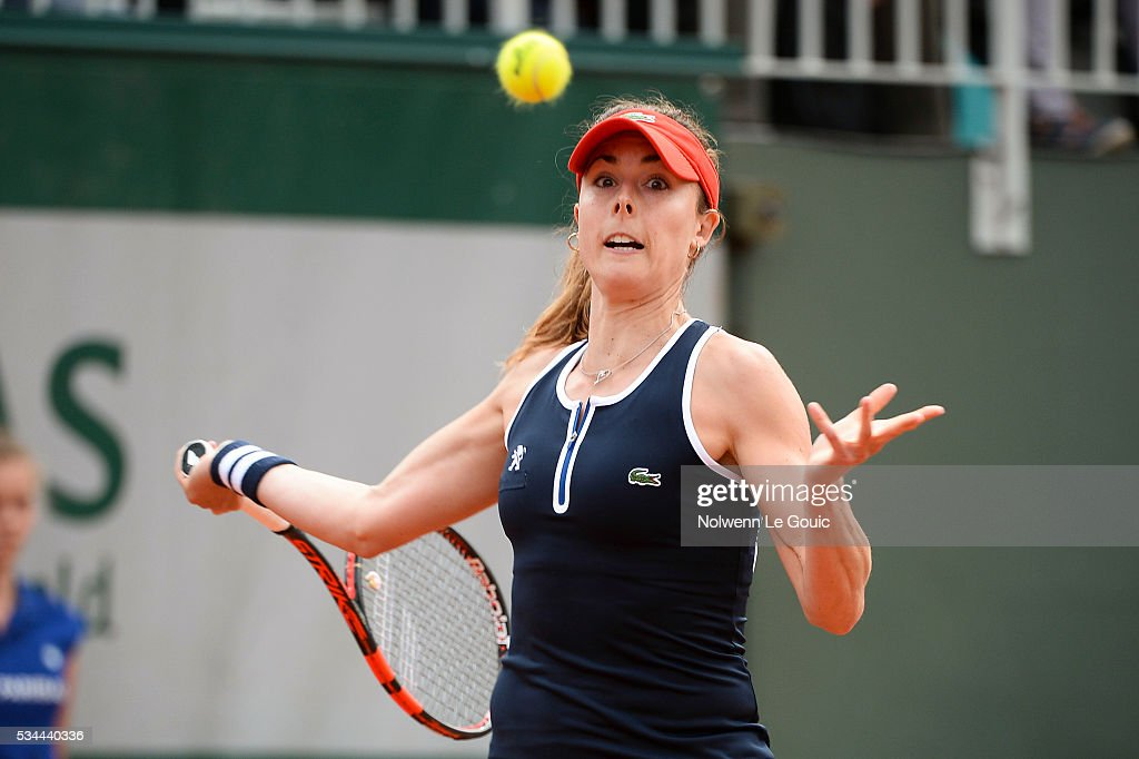 Alize Cornet during the Women's Singles Second round on day five of the French Open 2016 at Roland Garros on May 26, 2016 in Paris, France.