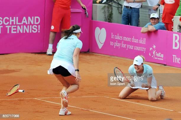 Alize CORNET / Julie COIN Allemagne / France Barrage Fed Cup 2010 Leipzig