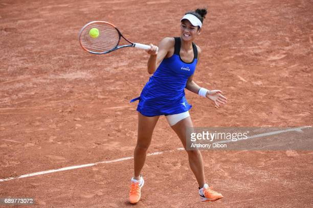 Alize Lim during first round on day 2 of the French Open at Roland Garros on May 29 2017 in Paris France