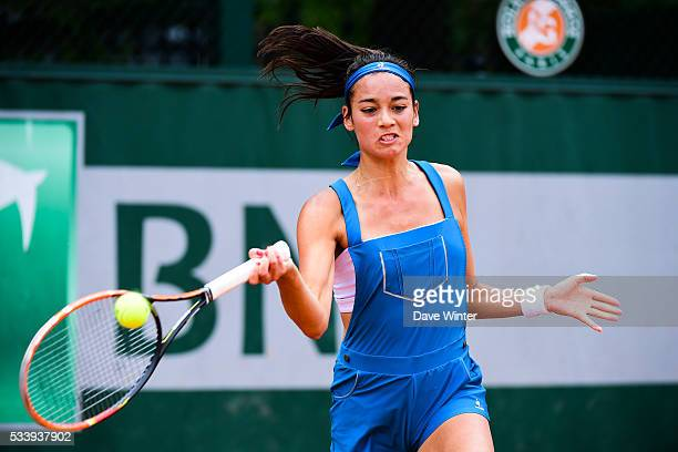 Alize Lim during the Women's Singles first round on day three of the French Open 2016 at Roland Garros on May 24 2016 in Paris France