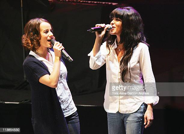 Alizee and Jenifer Bruel Performs at the Fight Aids Monaco Gala 'Tribute to Serge Gainsbourg' on March 202008 at the Grimaldi Forum In Monte Carlo...
