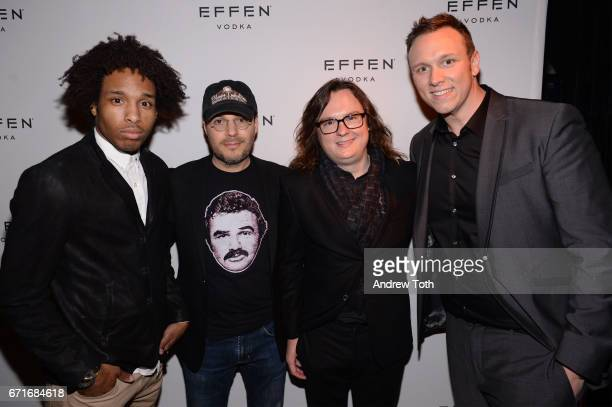 AlJaleel Knox Adam Rifkin Clark Duke and Brian Cavallaro attend the after party for Dog Years presented by EFFEN Vodka during 2017 Tribeca Film...