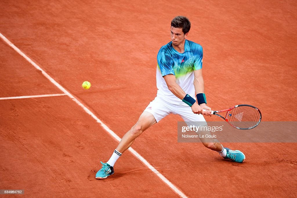 Aljaz Bedene during the Men's Singles third round on day seven of the French Open 2016 on May 28, 2016 in Paris, France.