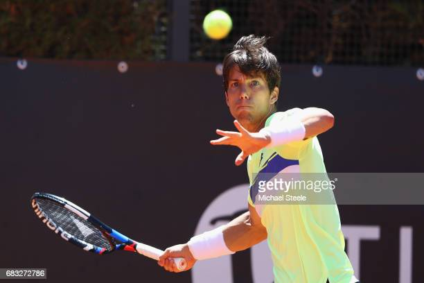 Aljaz Bedene of Great Britain in action during his match against Gianluca Mager of Italy on Day Two of The Internazionali BNL d'Italia 2017 at the...