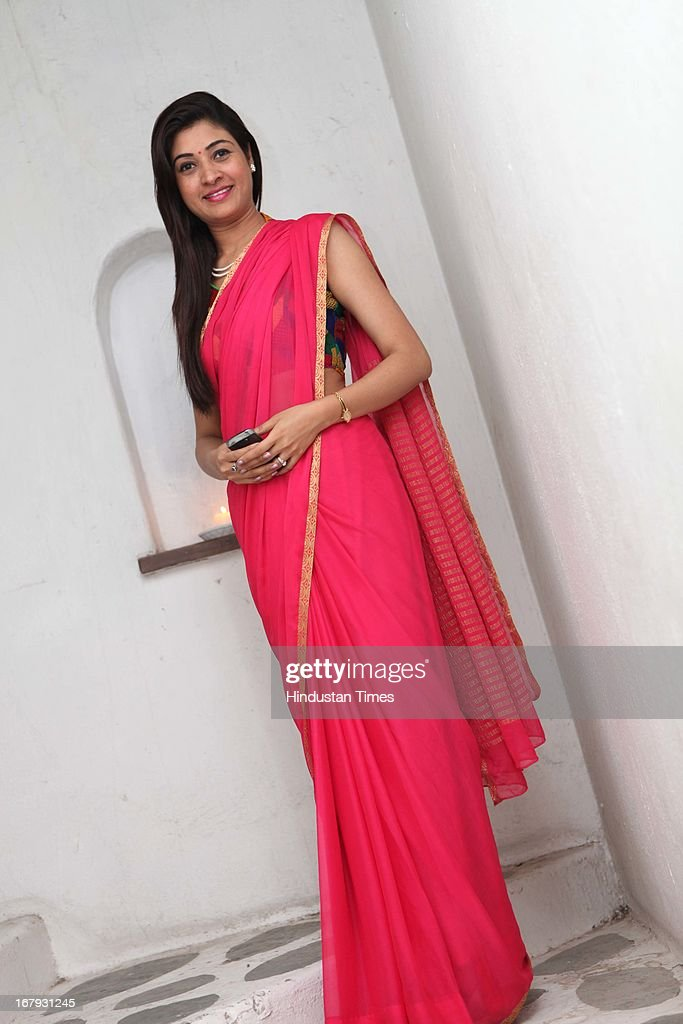Alka Lamba at the launch of Spring collection of Fashion Label Wakalma at Olive Bar & Kitchen, Mehrauli on on April 29, 2013 in New Delhi, India.