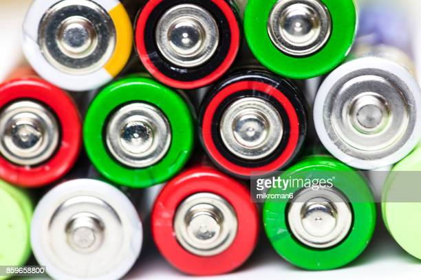 AA alkaline battery close up