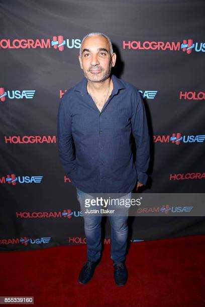 Alki David attends Hologram USA's Gala Preview at Hologram USA Theater on September 28 2017 in Los Angeles California