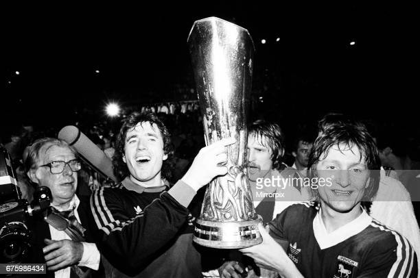 AZ Alkmaar v Ipswich Town 2nd leg match of UEFA Cup Final at the Olympic Stadium in Amsterdam May 1981 Final score AZ Alkmaar 42 Ipswich Town Ipswich...