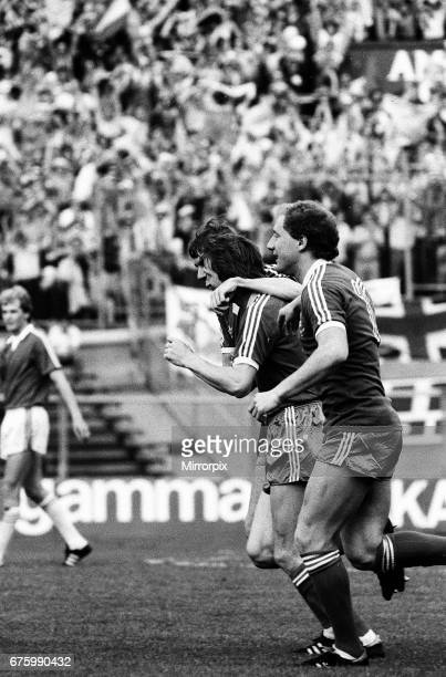 AZ Alkmaar v Ipswich Town in action during 2nd leg match of UEFA Cup Final at the Olympic Stadium in Amsterdam May 1981 Alan Brazil Final score AZ...