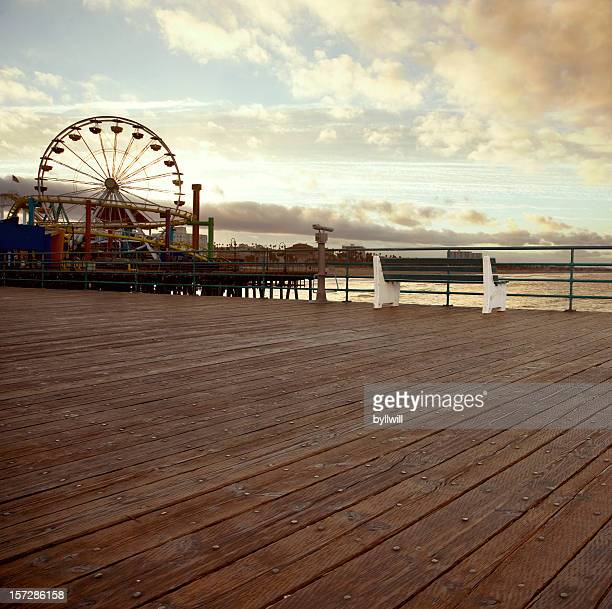 All alone on the Santa Monica pier (no man)