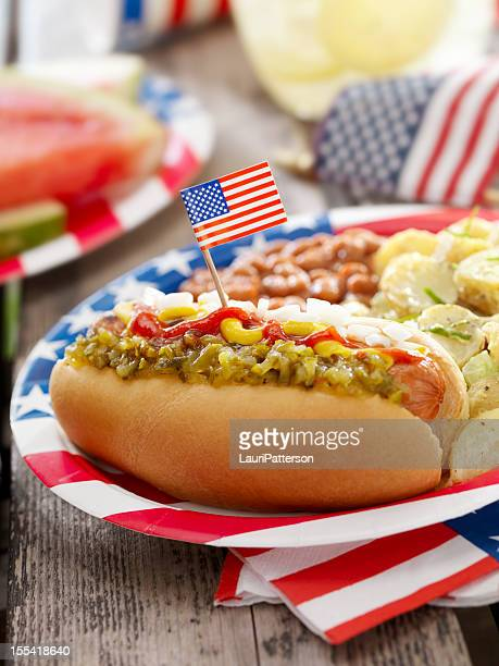 All American Hotdog with Lemonade