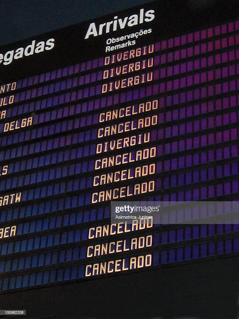 All Arrivals Cancelled
