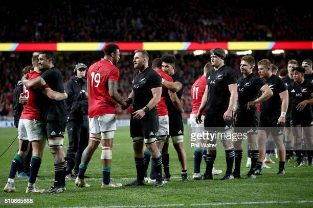 All Black captain Kieran Read following the Test match between the New Zealand All Blacks and the British Irish Lions at Eden Park on July 8 2017 in...