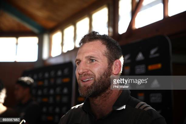 All Black captain Kieran Read speaks to the media during the All Blacks Maori All Blacks New Zealand Lions Series Squads Announcement at Mt Roskill...