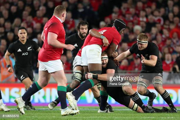 All Black captian Kieran Read during the Test match between the New Zealand All Blacks and the British Irish Lions at Eden Park on July 8 2017 in...