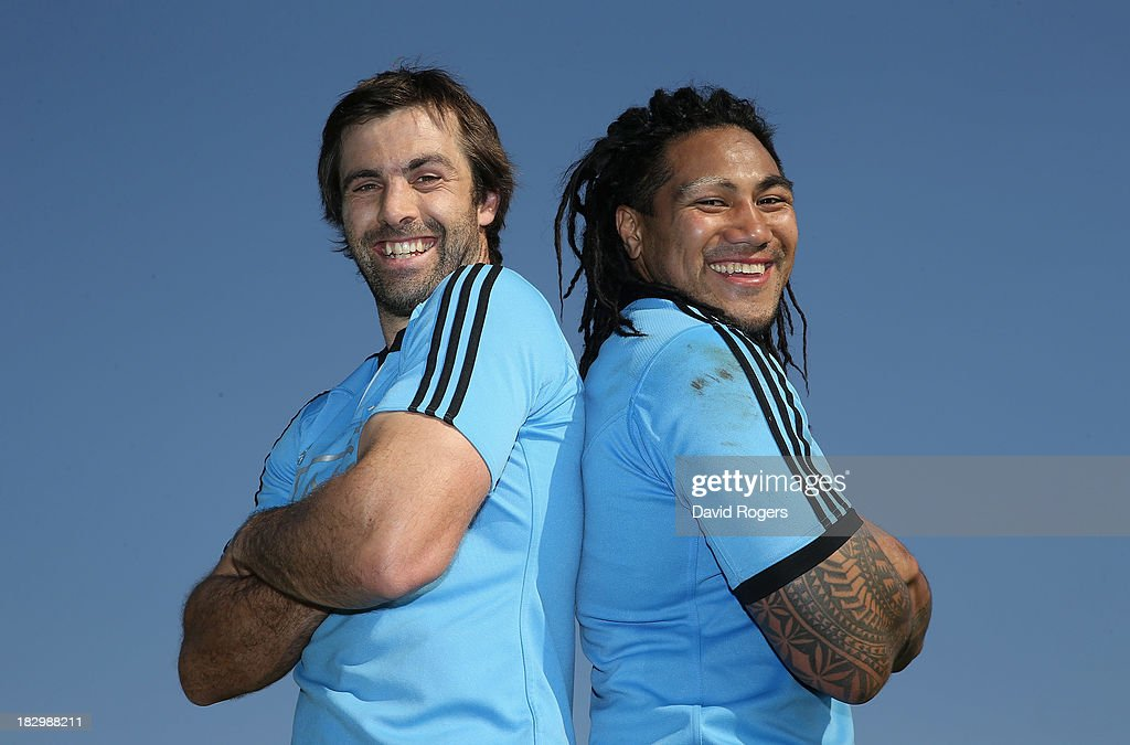 All Black centres <a gi-track='captionPersonalityLinkClicked' href=/galleries/search?phrase=Ma%27a+Nonu&family=editorial&specificpeople=224641 ng-click='$event.stopPropagation()'>Ma'a Nonu</a> (R) and <a gi-track='captionPersonalityLinkClicked' href=/galleries/search?phrase=Conrad+Smith&family=editorial&specificpeople=644500 ng-click='$event.stopPropagation()'>Conrad Smith</a>, who will play their world record 51st Test together in the match against South Africa pose after the New Zealand All Blacks training session held at Wits University on October 3, 2013 in Johannesburg, South Africa.