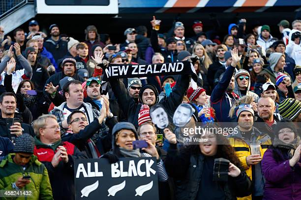 All Black fans celebrate following the International Test Match between the United States of America and the New Zealand All Blacks at Soldier Field...