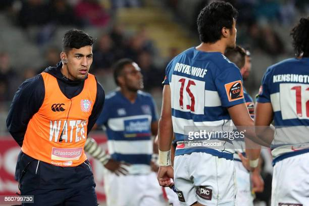 All Black Rieko Ioane runs the water during the round nine Mitre 10 Cup match between Auckland and Canterbury at Eden Park on October 13 2017 in...