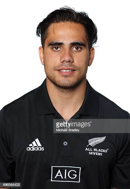 All Black Rugby Sevens player Beaudine Waaka on November 11 2015 in Auckland New Zealand