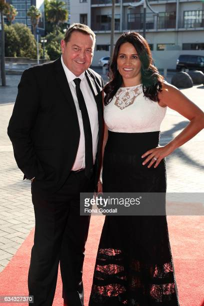 All Blacks coach Steve Hansen and wife Tash Hansen at the 54th Halberg Awards at Vector Arena on February 9 2017 in Auckland New Zealand