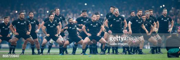 All Blacks during the Rugby Championship 2017 match between South Africa and New Zealand at DHL Newlands on October 07 2017 in Cape Town South Africa