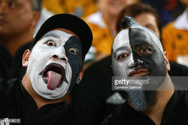 All Blacks fans show their colours during The Bledisloe Cup match between the Australian Wallabies and the New Zealand All Blacks at Suncorp Stadium...