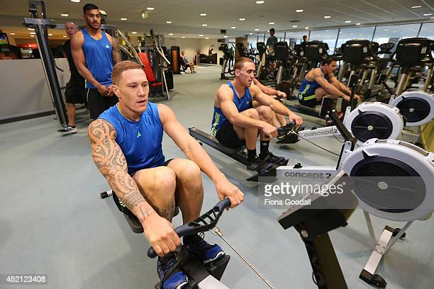 All Blacks Sevens Player Declan O'Donnell in the gym during the New Zealand Commonwealth Games Rugby Sevens Media Opportunity at Next Generation Gym...