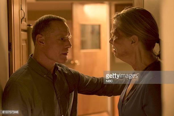 D 'All Cylinders Firing' Episode 405 Pictured Jason Beghe as Hank Voight Amy Morton as Trudy Platt