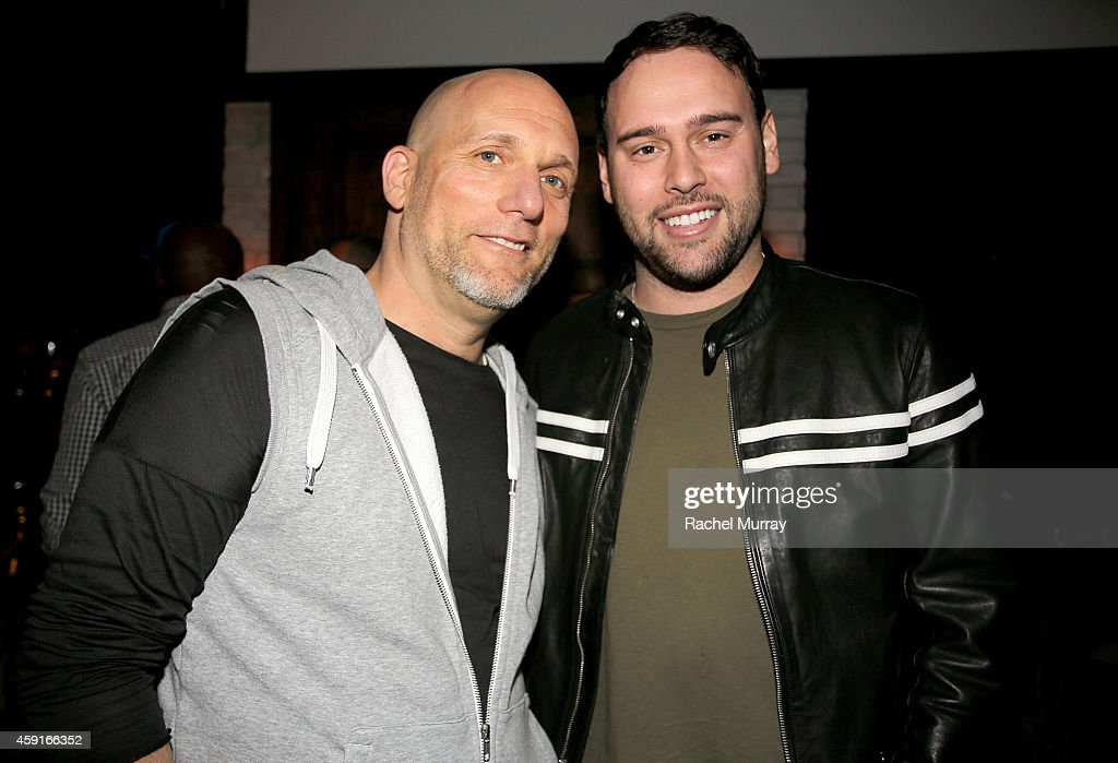 All Def Digital Partner Steve Rifkind and Scooter Braun attend ADD52's Live in LA on November 17 2014 in Los Angeles California