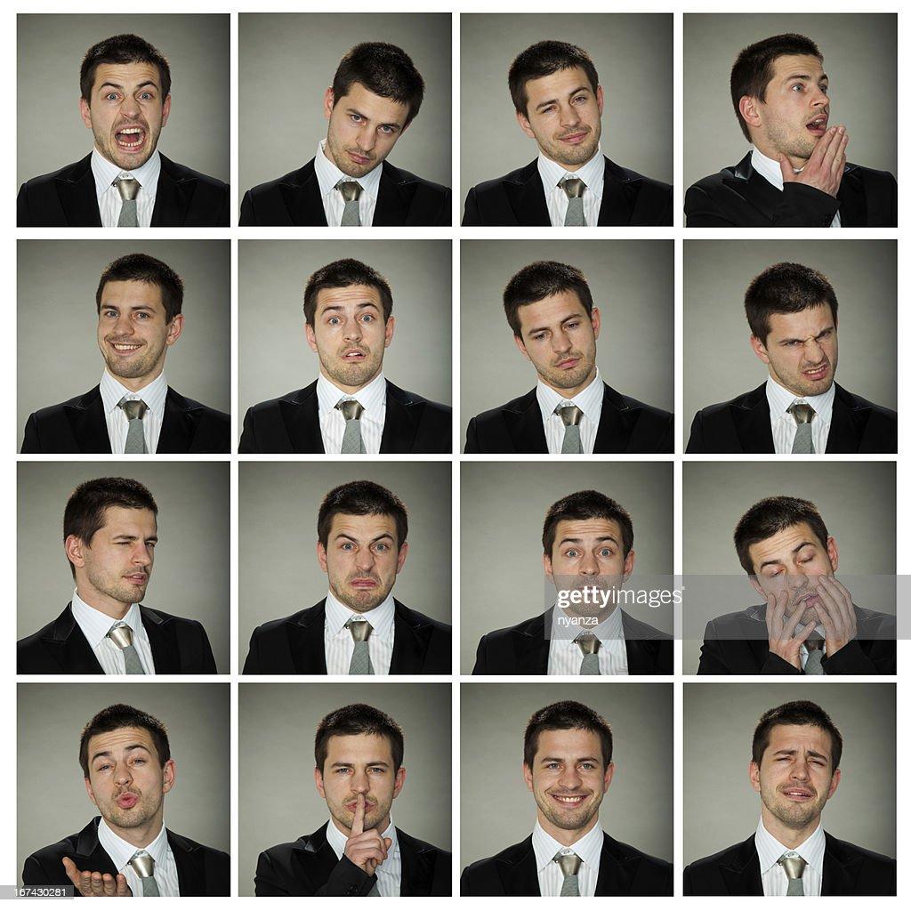 Todas as emoções : Foto de stock