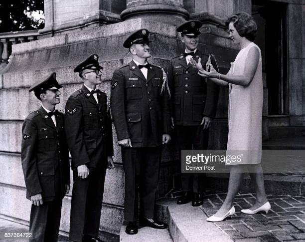 AUG 2 1966 AUG 4 1966 AUG 6 1966 'All Eyes on Me Men' Members of 3415th Technical School Chorus of Lowry Air Force rehearse with director Miss Anne...