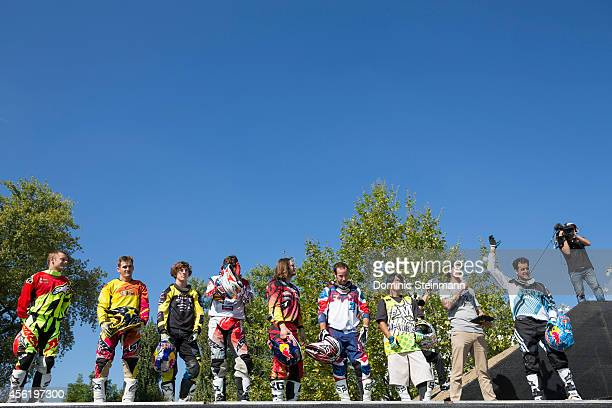All FMX riders after the Style Session at freestylech Zurich on September 27 2014 in Zurich Switzerland