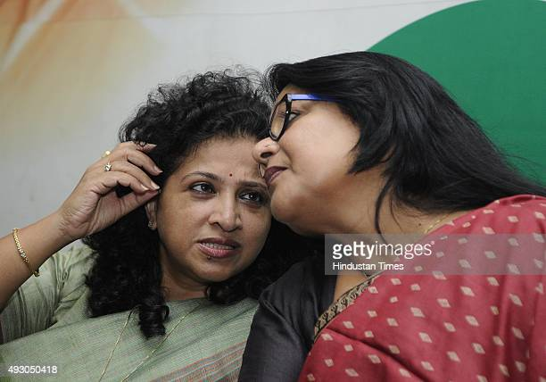 All India Mahila Congress President Shobha Ojha with New Delhi Pradesh Mahila Congress President and former Chairperson of Delhi Commission for Women...