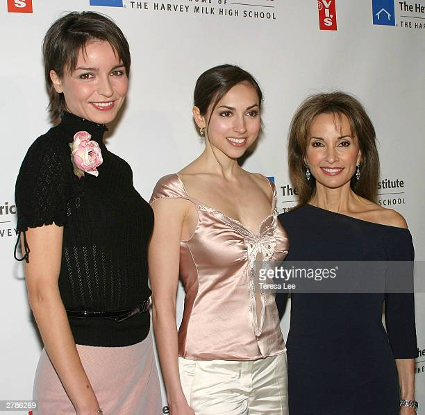 All My Children cast members Olga Sosnovska Eden Riegal and Susan Lucci attend the 2003 Emery Awards at the Capitale December 4 2003 in New York City
