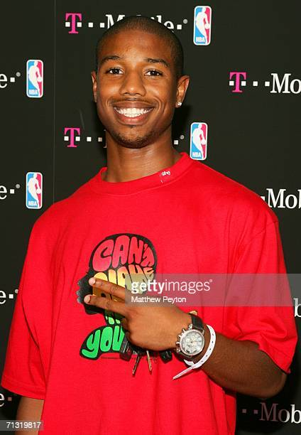'All My Children' soap actor Michael B Jordan attends the TMobile Basketball's Rising Stars Celebration at Tao Restaurant on June 28 2006 in New York...