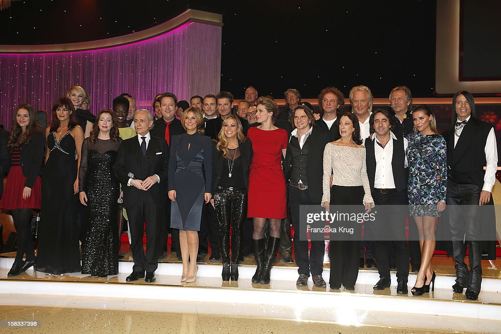 All participants pose during the 18th Annual Jose Carreras Gala on December 13, 2012 in Leipzig, Germany.