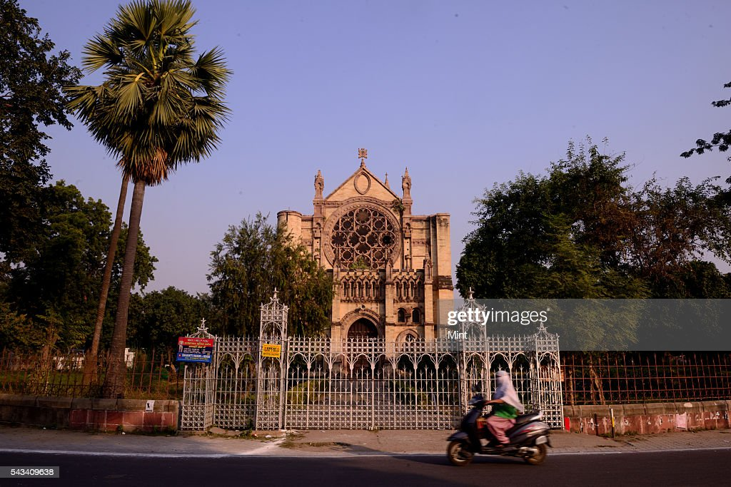 All Saints Cathedral in Civil Lines on November 19, 2014 in Allahabad, India.