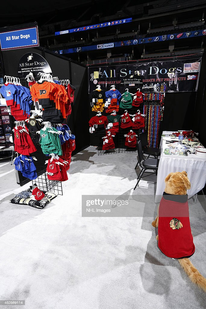All Star Dogs shows it's wares at the 2014 NHL Exchange at Pepsi Center on July 22, 2014, in Denver, Colorado.