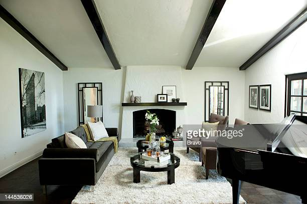 LEWIS 'All That Glitters' Episode 106 Pictured Living room after renovation