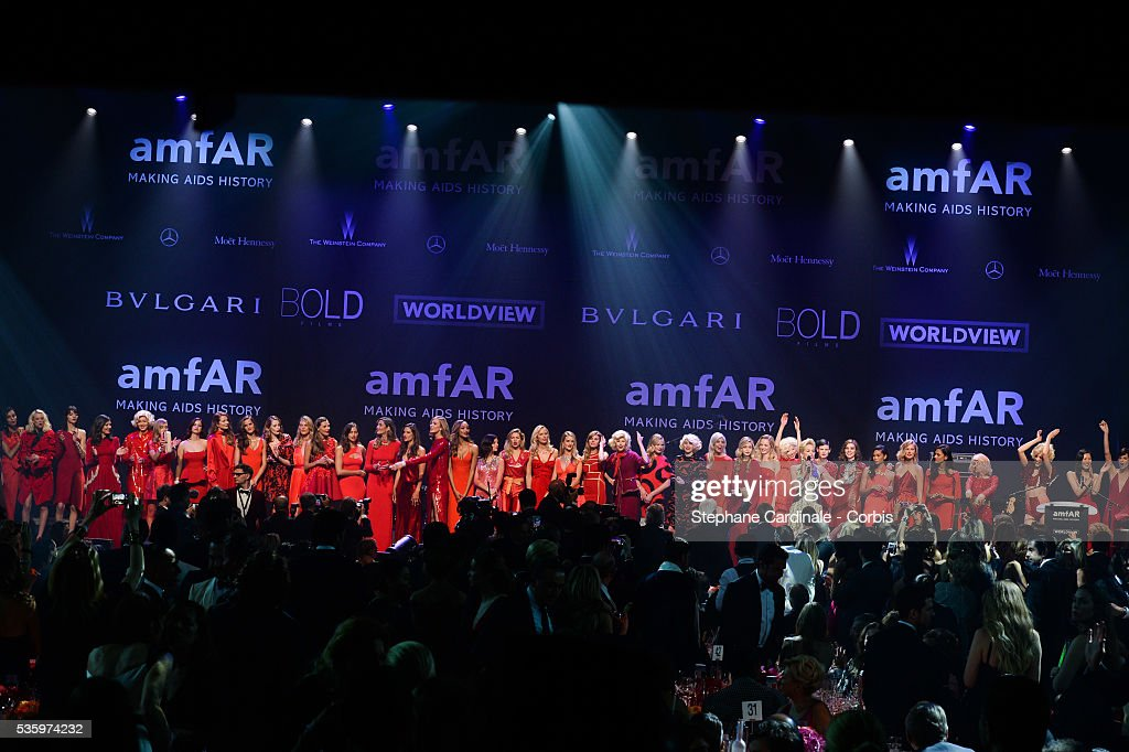 All the models at the amfAR's 21st Cinema Against AIDS Gala at Hotel du Cap-Eden-Roc during the 67th Cannes Film Festival