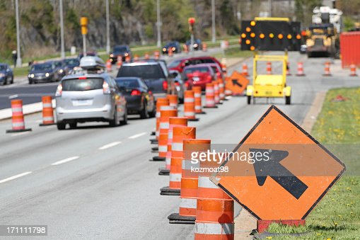 All Traffic Move Left Signs