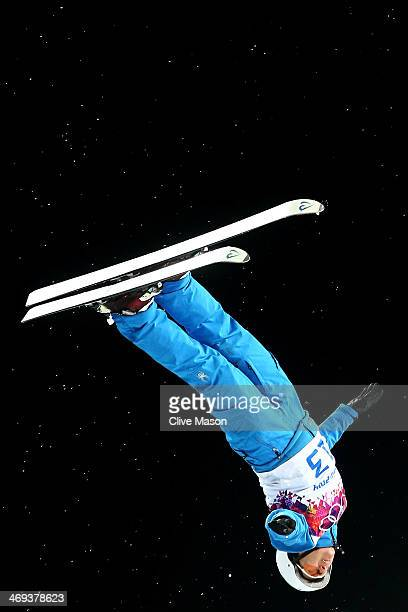 Alla Tsuper of Belarus competes in the Freestyle Skiing Ladies' Aerials Finals on day seven of the Sochi 2014 Winter Olympics at Rosa Khutor Extreme...