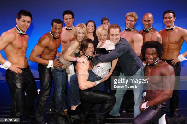 Alla Wartenberg Jennifer Wallen Felisha Mason and Clay Lee with The Chippendales