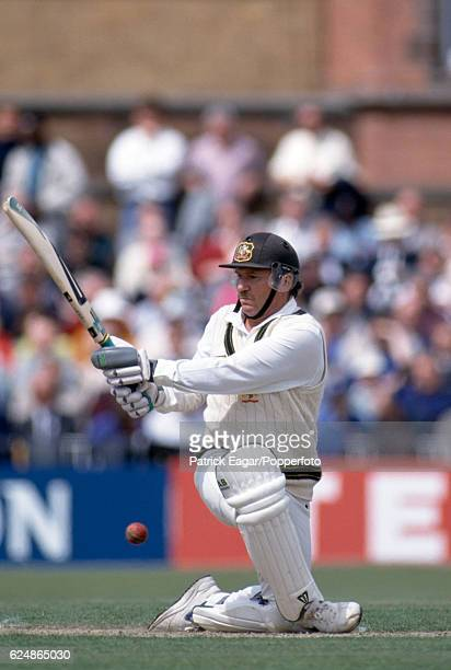 Allan Border batting for Australia during the 1st Texaco Trophy One Day International between England and Australia at Old Trafford Manchester 19th...