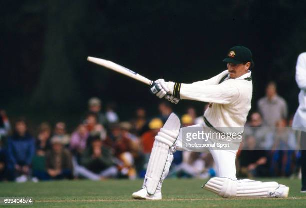 Allan Border batting for Australia during the tour match between Lavinia Duchess of Norfolk's XI and the Australians at Arundel 5th May 1985