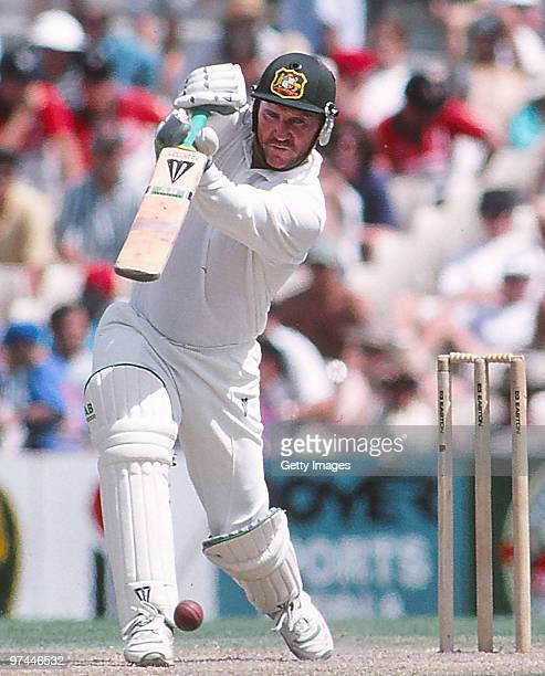 Allan Border of Australia bats during a Test match on January 1 1994 in Australia