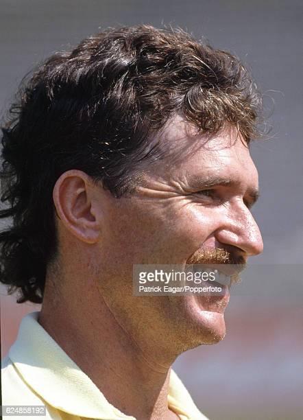 Allan Border of Australia during the Reliance World Cup in India circa November 1987