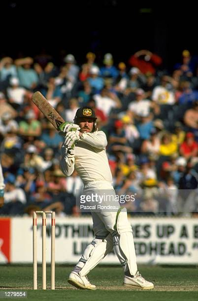 Allan Border of Australia in action during a match Mandatory Credit Pascal Rondeau/Allsport