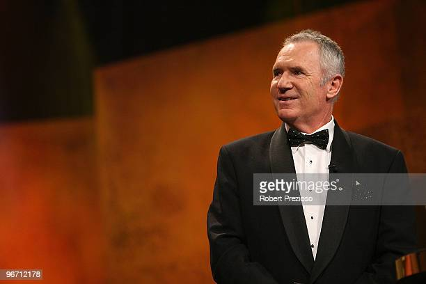 Allan Border speaks during the 2010 Allan Border Medal at Crown Casino on February 15 2010 in Melbourne Australia