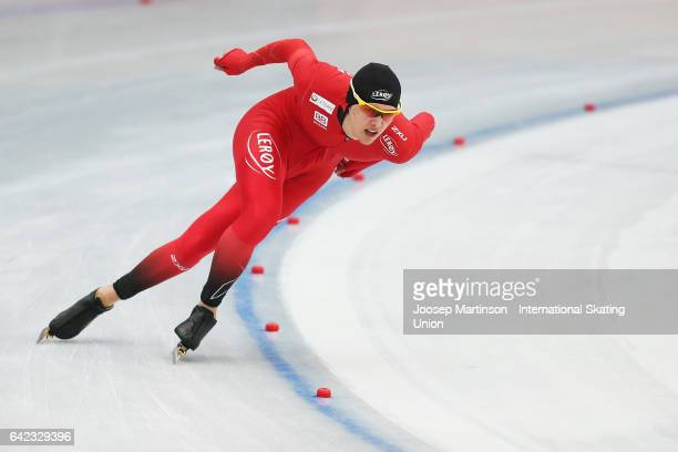 Allan Dahl Johansson of Norway competes in the Men's 1500m during day one of the World Junior Speed Skating Championships at Oulunkyla Sport Park on...